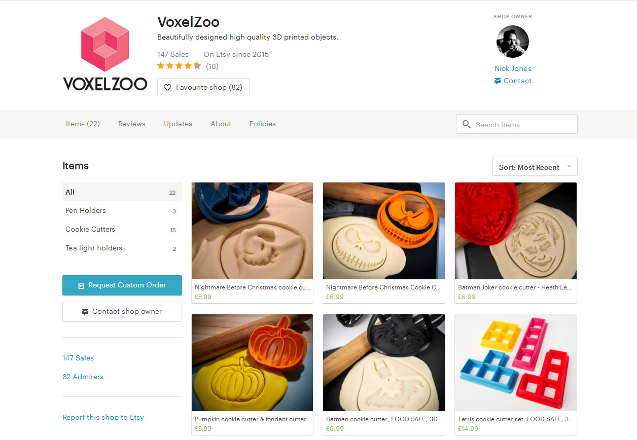 Voxel Zoo - 3D Printed Gifts & Accessories