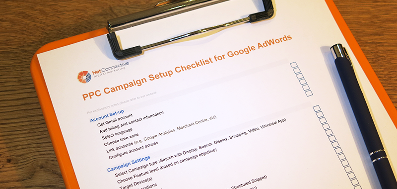 Google Adwords setup checklist